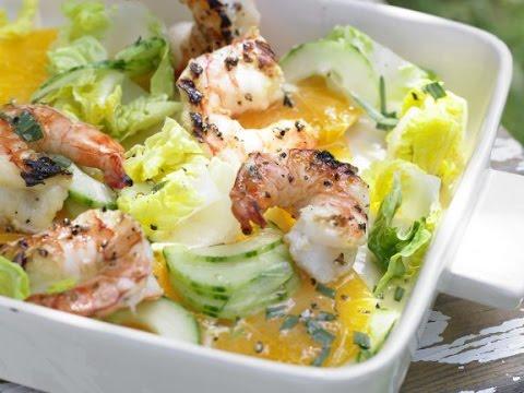 Легкий салат с креветками рецепт. Легкий и вкусный салат без майонеза.