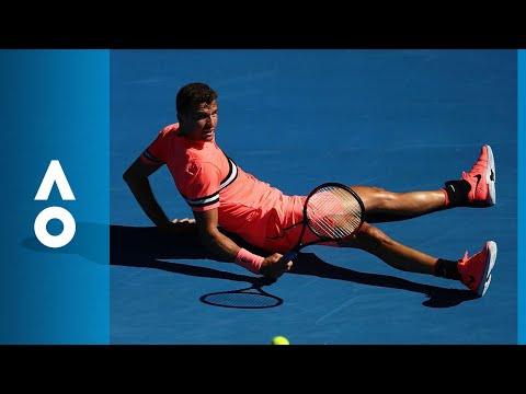 Grigor Dimitrov v Dennis Novak match highlights (1R) | Australian Open 2018