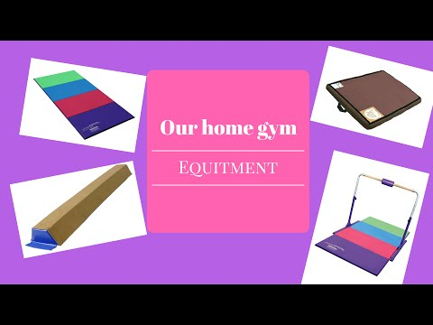 Our Home Gymnastics Equipment!