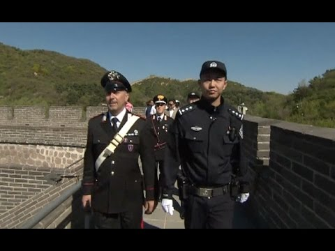 Chinese, Italian Police Officers Start Joint Patrolling in Beijing