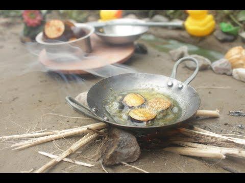 Eggplant fry tiny food recipe | Mini eggplant fry | Farm fresh mini brinjal fry