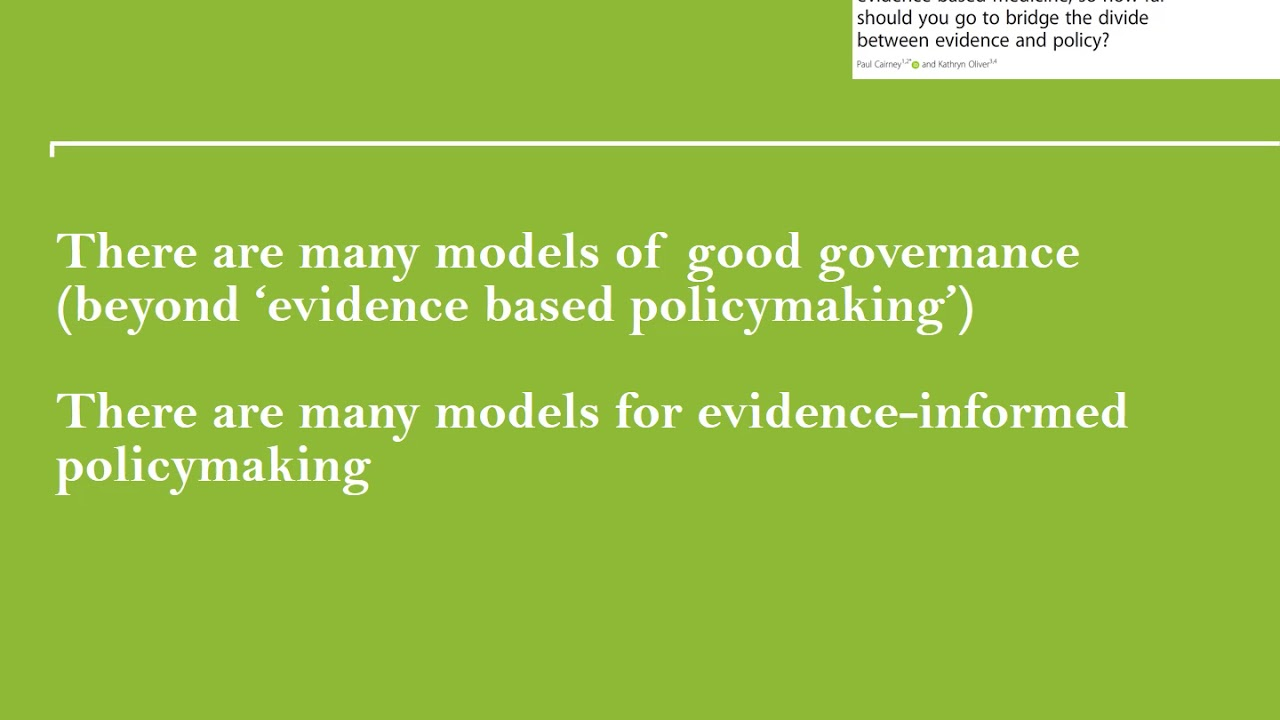 Political science | Paul Cairney: Politics & Public Policy