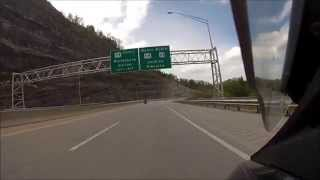Riding US23 North on Honda St1300 towards Jenkins Ky