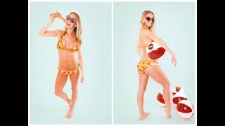 $10,000 Pizza Bikini Made Out Of ACTUAL PIZZA! | What's Trending Now!