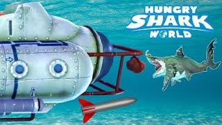 BOSS BATTLE! GIANT SUBMARINE vs MEGALODON! - Hungry Shark World Part 15 (Final Boss Battle)