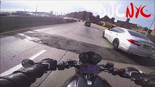 New York City on a Motorcycle, Manhattan, FDR, Cold and Busy, Dead Battery v867