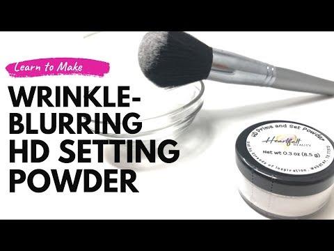 DIY HD Setting Powder | Handmade Makeup | Wrinkle - Blurring Face Powder