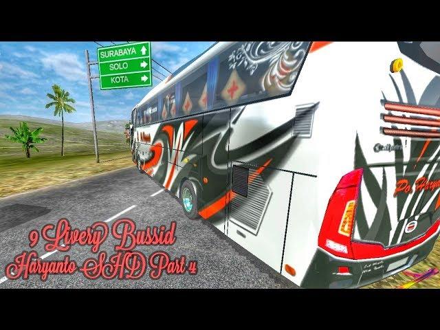 Berbagi Livery Bussid || Po. Haryanto SHD Part 4