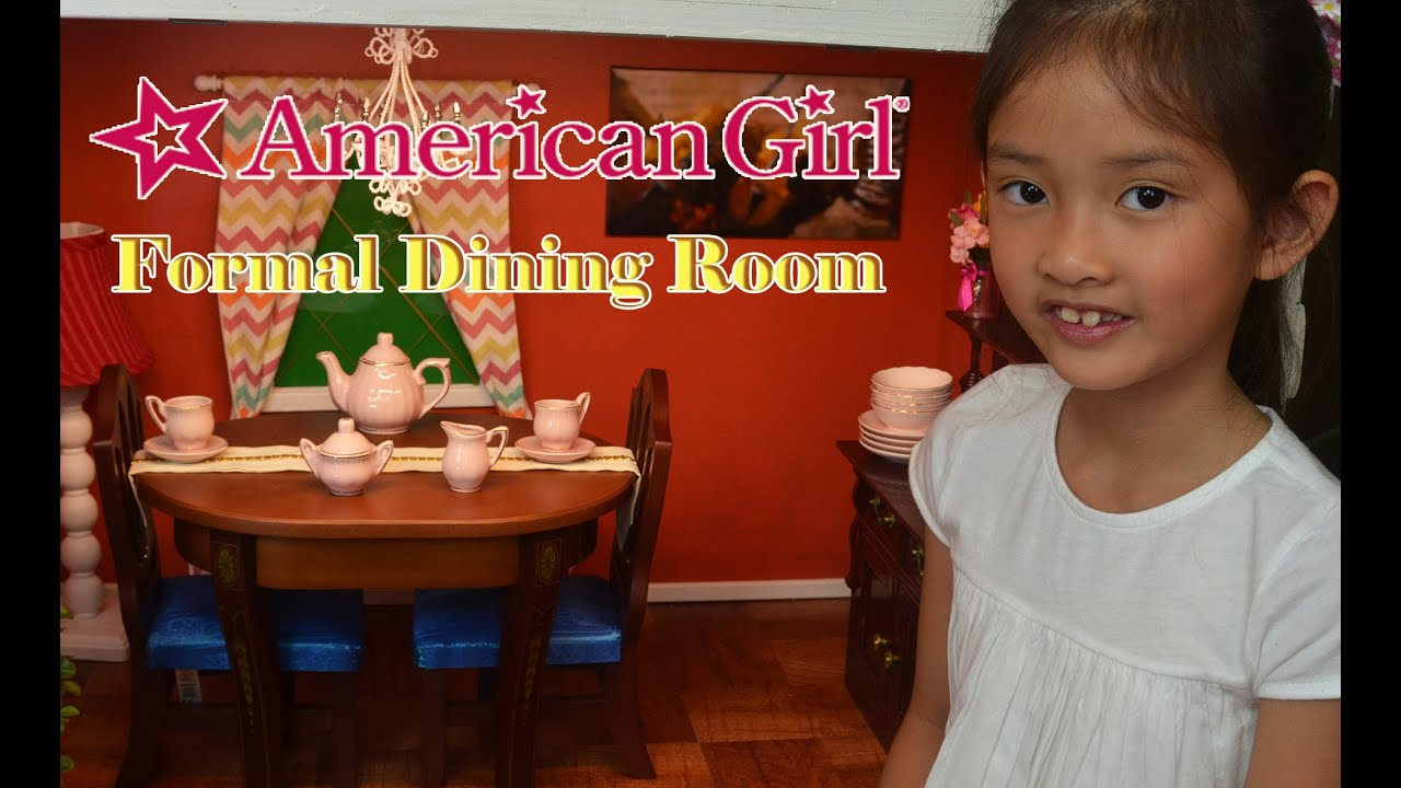 setting up american girl doll house formal dining room