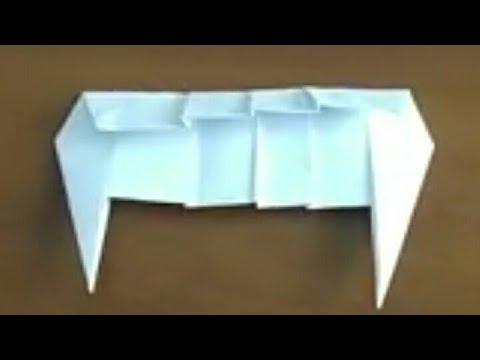 Vampire's teeth make easy from paper