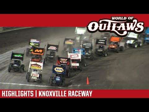 World of Outlaws Craftsman Sprint Cars Knoxville Raceway June 9, 2017 | HIGHLIGHTS