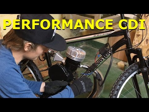 80cc 2-Stroke Motorized Bike Build EP12 - Performance CDI