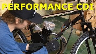 80cc 2 stroke motorized bike build ep12 performance cdi