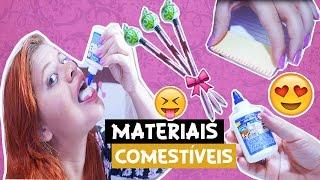 diy material escolar comestvel   diy edible school supplies   juuh bencio