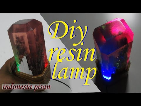 diy resin lamp using resin polyester.