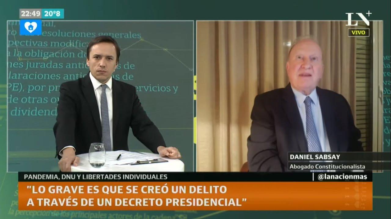 "Daniel Sabsay: ""La reforma judicial está pensada para la impunidad de Cristina Kirchner"""
