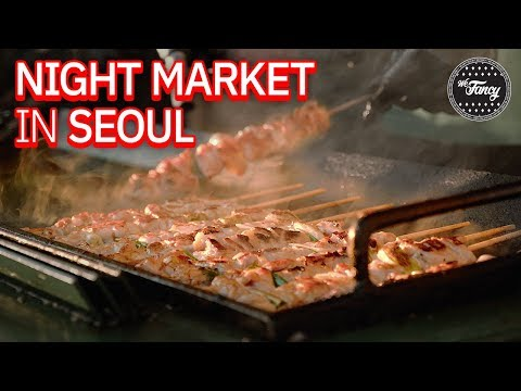Incredible Food Night Market in Seoul