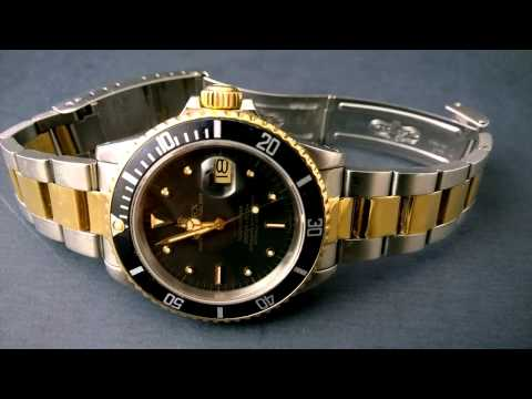 Vintage Rolex Submariner 16803 Two Tone Black with rare Nipple Dial