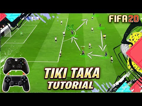 FIFA 20 TIKI TAKA ATTACKING TUTORIAL + TACTICS / HOW TO ATTACK & USE BUILD UP PLAY TO SCORE GOALS