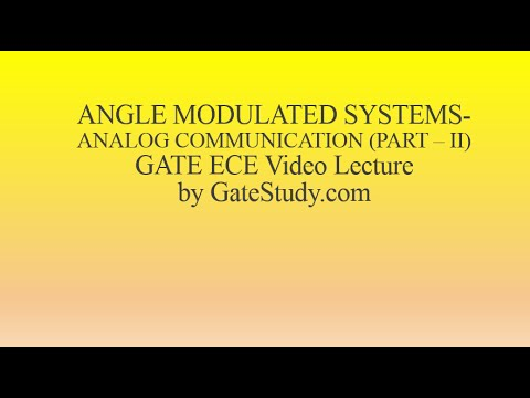 Angle Modulated Systems-A conceptual Video Lecture