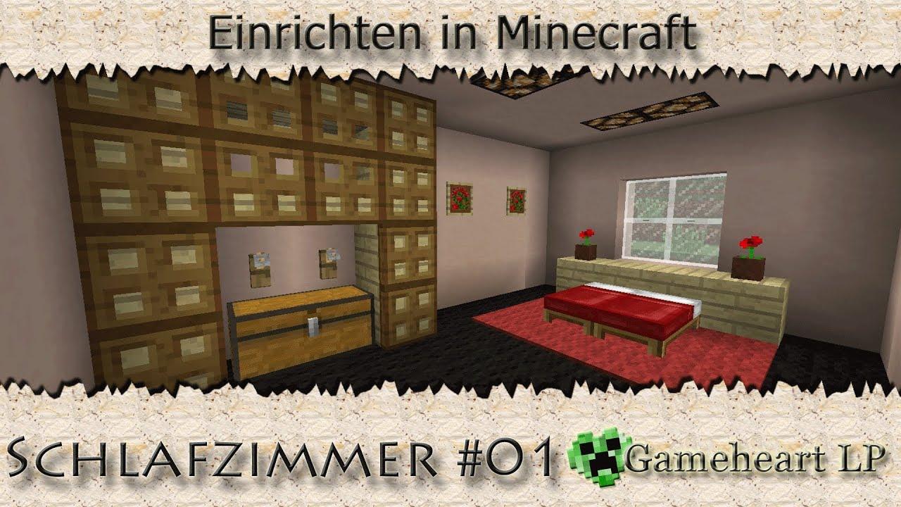 MINECRAFT - Schlafzimmer #01 / Einrichten in Minecraft