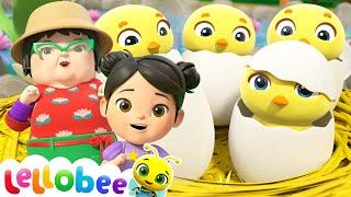 5 Little Ducks - Playtime at the Farm! - @Lellobee City Farm - Cartoons & Kids Songs  | Moonbug Kids