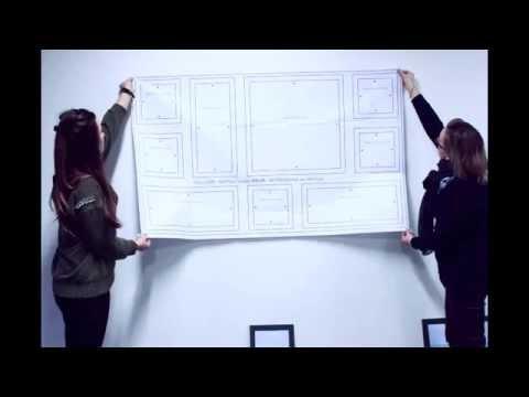 comment poser un mur de cadres facilement youtube. Black Bedroom Furniture Sets. Home Design Ideas