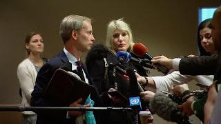 Sweden on the draft resolution on Syria - Media Stakeout (23 Feb 2018)