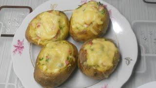 Картофель фаршированный запеченный в духовке Крошка картошка