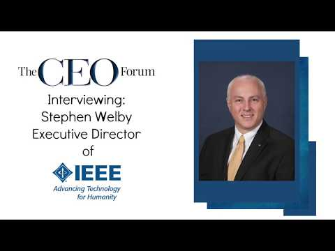 Steve Welby and IEEE advancing technology for the sake of humanity