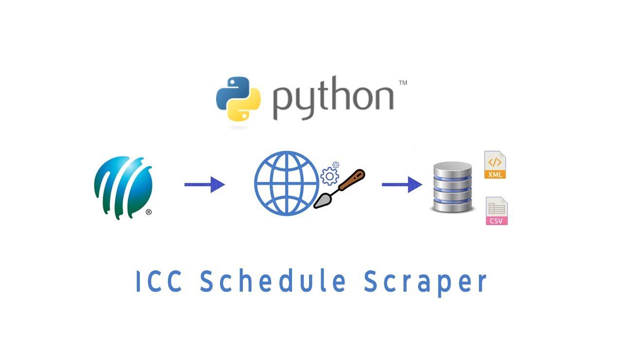 ICC Schedule Scraper   Python Web Scraper   ICC Cricket Scraper