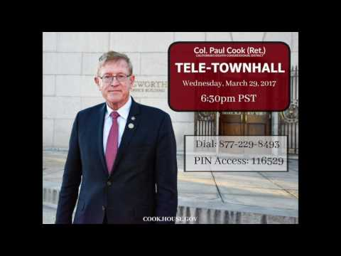 Paul Cook Tele-Town Hall, Mar  29, 2017