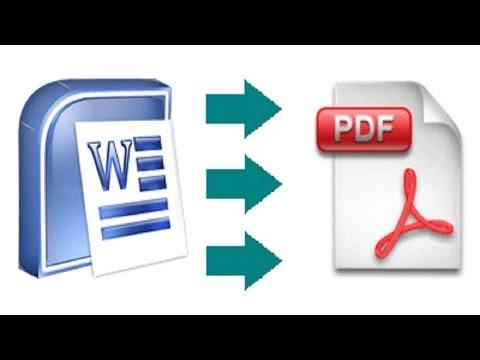 Как перевести текст word в pdf