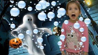ПРИВЕДЕНИЕ в доме! Стреляем мыльными пузырями! Funny baby. Видео для детей