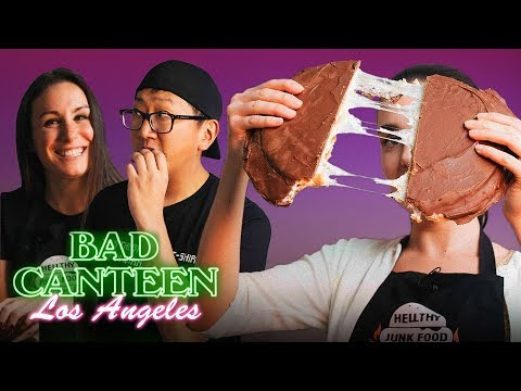 We made a Giant Wagon Wheel with HELLTHY JUNK FOOD - Bad Canteen EP#16 - A New Cooking Show