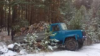 поездка в лес за дровами на газ 66