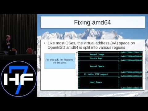 """Hackfest 2015: Mike Larkin presented """"Kernel W^X Improvements In OpenBSD"""""""