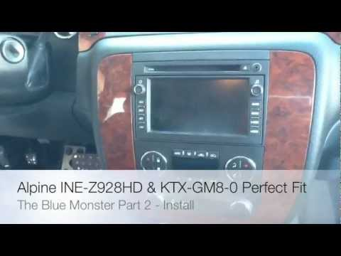 ALPINE PERFECT FIT INE-Z928HD & KTX-GM8-0 2010 CHEVY 2500HD ROLLING BIG POWER  PART 2
