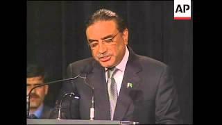 Zardari receives US honour on behalf of slain wife