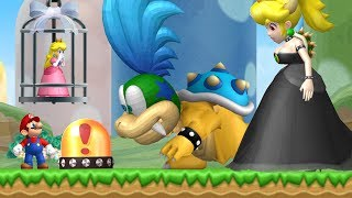 New Super Mario Bros. Wii - Mega Larry & Bowsette Fight in the first Level