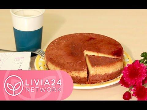 Cách làm Bánh Flan bông lan vị socola - Chocolate Flan Cake