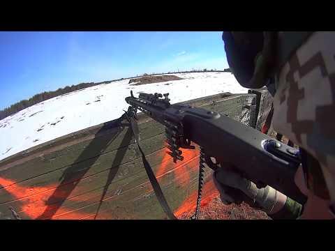 HD POV OF MG3 Machine Gunner - Estonian Army Training