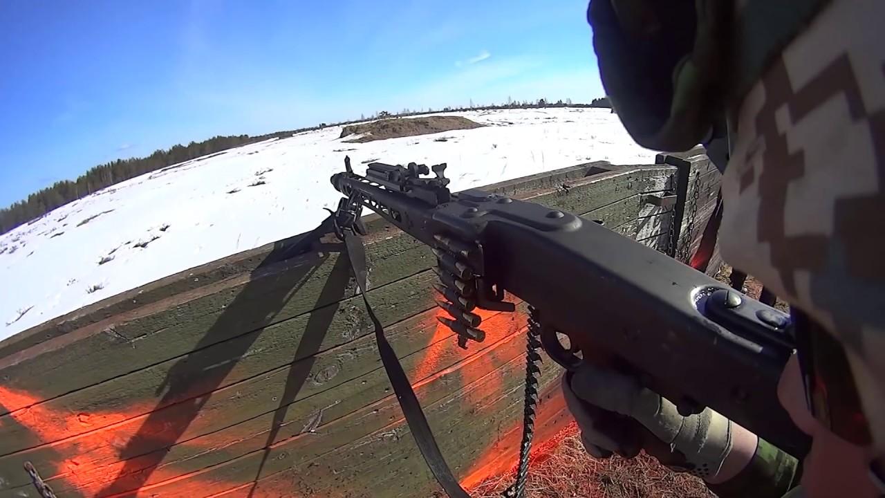 Estonian Army Training - HD POV OF MG3 Machine Gunner - YouTube