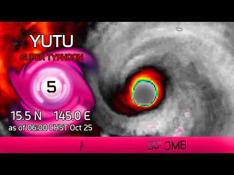 Typhoon Yutu continues into the Philippine Sea - 6am CHST Oct 25, 2018