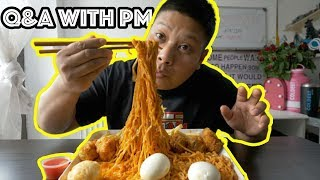 Q&A with PM eating Spicy noodles with Wings