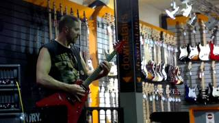 ANNIHILATOR JEFF WATERS PLAYING THE TREND LIVE