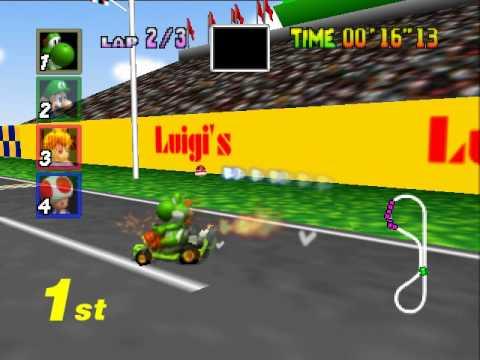 Mario Kart 64 Gp Luigi Raceway 25 06 Tas Youtube