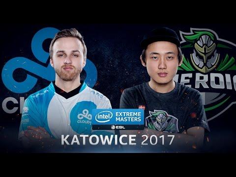 CS:GO - Cloud 9 Vs. Heroic [Cbblestone] - Group B - IEM Katowice 2017