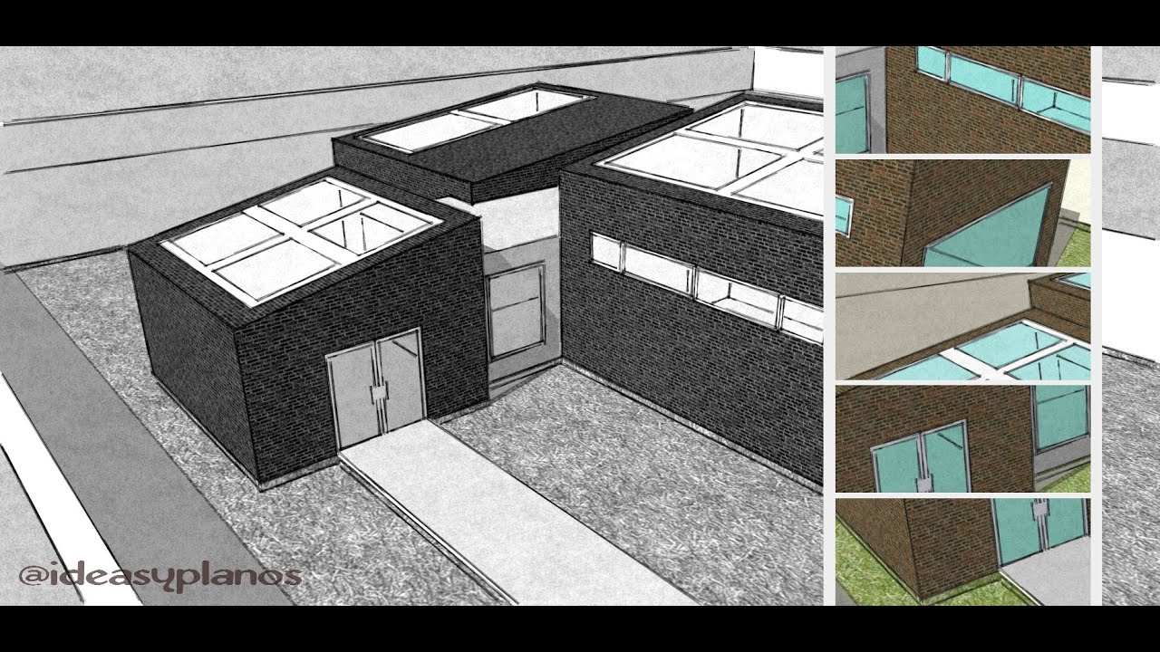 how to build a house in sketchup