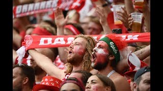 Denmark fans in Moscow |  World Cup 2018